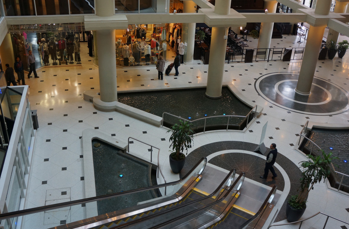 Shopping court south viewed from the second floor