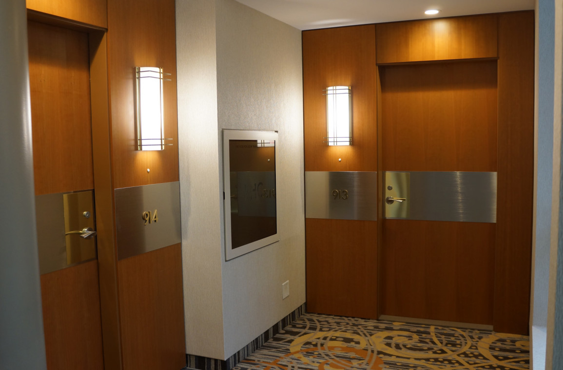 Suite access and corridor decor